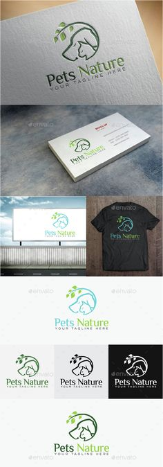 Pet Nature Logo Template Vector EPS, AI. Download here: http://graphicriver.net/item/pet-nature-logo/14830350?ref=ksioks