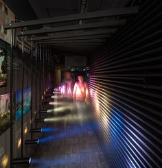 Cool installation of light and color