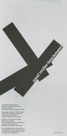 Josef Muller-Brockman— my favourite designer.
