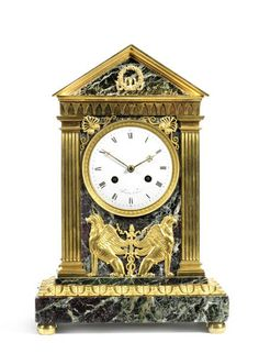A French Early 19th Century Empire Ormolu Clock Possibly By Claude Galle, Arnaud Romieux, Proantic