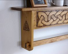 20 off Celtic knot design hanging quilt rack by QuiltRacksByDon, $100.00