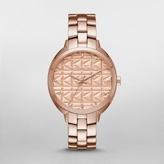 Kuilted Rose Gold-Tone Three-Hand Watch A signature K-kuilting etched dial adds a kool, modern edge to the KARL LAGERFELD Kuilted watch, new for fall 2016. A polished rose gold-tone case and three-link bracelet complete the look.