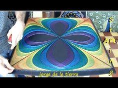 string art obra 40 red fractal por jorge de la tierra - YouTube String Art Templates, String Art Tutorials, String Art Patterns, Arte Linear, Diy Kits For Adults, Mandala, Nail String Art, Spirograph, Cardboard Art