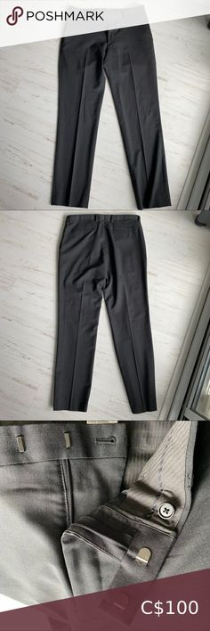 Banana Republic Mens dress pants Dark gray men's dress pants from Banana Republic. The pants are a 32x32 and have never been worn. They are Italian wool pants bought last fall.   There is a matching jacket that I would be willing to bundle together with this at a cheaper price. Please like both and I will offer a discounted price. Banana Republic Pants Dress Mens Dress Pants, Wool Pants, Plus Fashion, Fashion Tips, Fashion Trends, Banana Republic, Gray Color, Man Shop, Dark