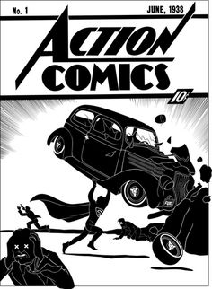 Action Comics No. 1 as 'covered' by illustrator Tom Addison. More comic book 'covers' here. The original Action No. Valuable Comic Books, Action Comics 1, Dc Comics Superheroes, Background Vintage, Comic Book Covers, Old Art, Marvel Dc, Comic Art, Monochrome