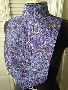 2016 Blue/Purple Paisley Print English Hunt Seat Show Shirt Dickie Ratcatcher