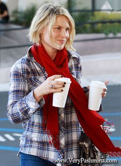 #AliLarter Grabs Coffee In Cherry #RedScarf