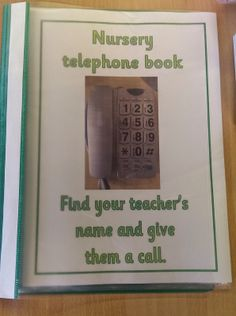 Our new nursery phone book