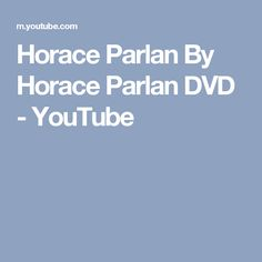 Horace Parlan By Horace Parlan DVD - YouTube