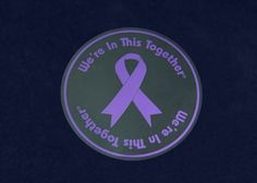 Purple Ribbon Window Cling Car Decal by CauseAndEffectTees on Etsy