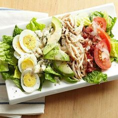 Chicken Cobb Salad Why save this classic for when you're dining out? Rotisserie chicken makes it easy to enjoy a Cobb at home.