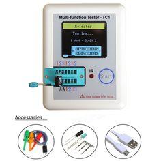 check price 2016 new transistor tester tft diode triode capacitance meter lcr esr meter npn pnp mosfet ir #lcr #meter