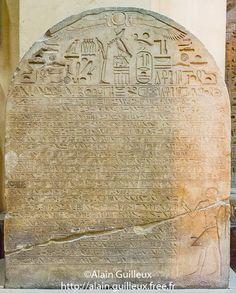 Stèle de Montouhotep, vizir de Sésostris Ier. Abydos.