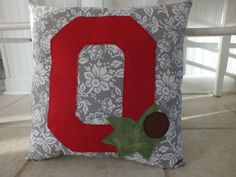 Hey, I found this really awesome Etsy listing at https://www.etsy.com/listing/200274754/ohio-state-buckeyes-pillow-novelty