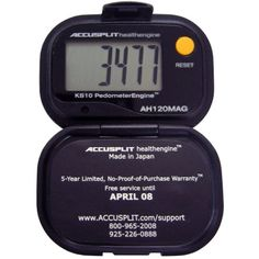 ACCUSPLIT Health Engine AH120MAG Pedometer/Step Counter with Magnum Display ** Want to know more, click on the image. (This is an affiliate link) #FitnessActivityMonitors