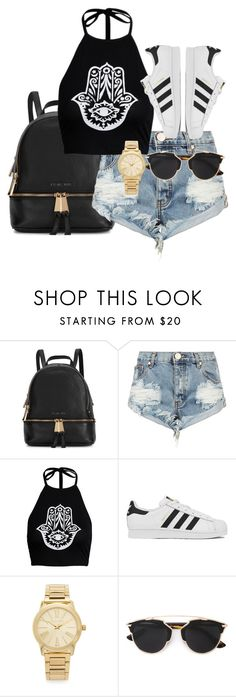 """""""Untitled #60"""" by ahmya-artis on Polyvore featuring Michael Kors, One Teaspoon, adidas, Christian Dior, women's clothing, women, female, woman, misses and juniors"""