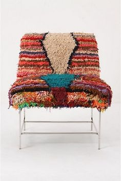 Modern Moroccan Chair, Striped(Anthropologie)