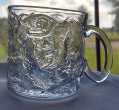 Vintage 1995 McDonald's RIDDLER BATMAN FOREVER Cups Glass Mugs Embossed Glass   Collectibles, Advertising, Restaurants & Fast Food   eBay!