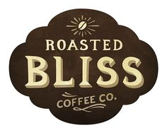 Roasted Bliss Coffee Co. #Identity #Logo #Design #Branding #Badge #Vintage