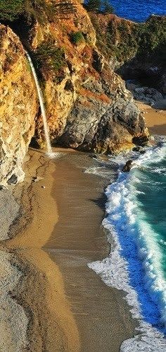 Beautiful Waterfalls in California-USA -  McWay Falls -Big Sur- California- USA