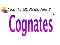 A powerpoint presentation which has helped me to teach the use of cognates in French. I use it as a whole class presentation. Students are amazed h...