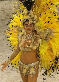 Brazilian carnival #brazil #carnival #yellow #girl