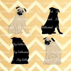 Pug SVG, Dog Svg, Frenchie svg, SVG cutting file, Cricut, kawaii, Dxf, PNG, Vinyl, Eps, Cut Files, Clip Art, Vector, Quote, Saying by SVGEnthusiast on Etsy