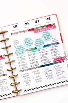 dividing a Happy Planner™ weekly page in three by mambi Design Team member April Orr me & my BIg ideas Planner Stickers, Planner Pages, Weekly Planner, Pages D'agenda, Bujo, Planer Organisation, Calendar Organization, Create 365 Happy Planner, Planer Layout
