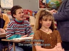 Sometimes it was half-up, half-down and crimped. | Topanga Lawrence's Legendary Hair