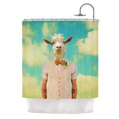Passenger 6F by Natt Goat Shower Curtain