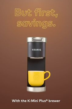 Money saving tip: Skip the coffee shop and get a K-Mini Plus brewer from Keurig. It's the perfect fit for your bank account and your busy schedule. (Plus it looks cool. Coffee Shop, Coffee Maker, Mini Plus, Hallway Coat Rack, Keurig Mini, Bebe Shower, Diy Shoe Rack, Cappuccino Machine, Coffee Machine