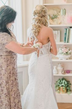 bride getting ready, mom zipping up daughter, mother and daughter wedding day ohio wedding photographer Wedding Bride, Wedding Day, Bride Getting Ready, Wedding Dresses Photos, Ohio, Daughter, Mom, Lace, Photography