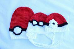 Check out this item in my Etsy shop https://www.etsy.com/listing/470756298/pokeball-hat-crochet-pokemon-hat-crochet