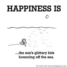 Happiness #280: Happiness is the sun's glittery bits bouncing off the sea.