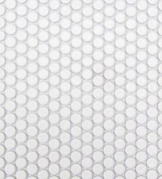 White Matte Porcelain Penny Round Mosaic Guest Bathrooms, Master Bathroom, Porcelain, Mosaics, Grid, Goals, Rose, Interior, Houses