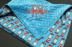 Dr Suess Baby Blanket  Cat in the Hat by browniesnbutterflies, $41.99