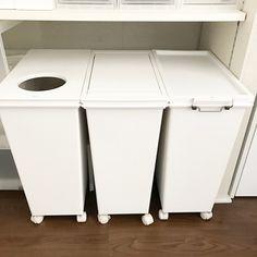 s.k.m.fさんの、背面収納,マイホーム,掃除,ホワイト化,キッチン収納,整理整頓,整理収納,ゴミ箱,キッチン,のお部屋写真