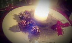Sitting by the tree and candles....