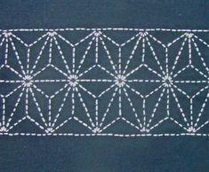 Star pattern (sashiko table runner)
