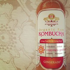 kombucha. great for detoxing. mmm....ginger