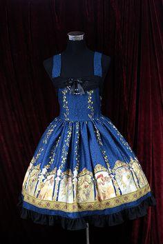 Sweet Cotten Original Print Souffle Song Lolita Dress