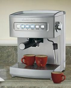 Impress your guests the perfect espresso every time with the  Cuisinart Programmable Espresso Maker that features easily removable parts for easy cleanup and use.