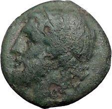 SYRACUSE SICILY 240BC King Hieron II POSEIDON DOLPHIN Trident Greek Coin i55579