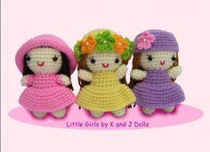 Kleine Mädchen, Amigurumi Häkelanleitung