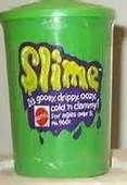 """Hold out your hand and close your eyes and you will get a big suprize!"" 70's toys -slime. This stuff was wild!"