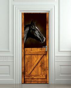 Door STICKER horse stall mural decole film poster by Pulaton