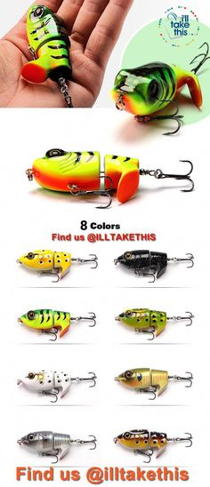 Bass Frog Fishing lures, JerkPro™ offering 8 Color Option with lifelike swimming motion tail Swivel tail, make light work of you next BASS fishing trip! Swivel tail, make light work of you next BASS fishing trip! Frog Fishing Lure, Fishing Bait, Carp Fishing, Best Fishing, Trout Fishing, Fishing Games, Fishing 101, Saltwater Fishing, Pesca Spinning