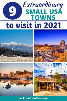 This year, we're advocating for a small-town vacation. Here are the best small towns in America to visit in 2021. Small towns USA #USA #travel