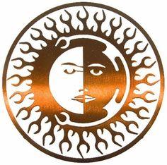"""8"""" Sun Moon Fire Metal Wall Art by Joel Sullivan"""