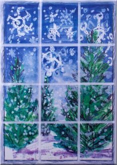 Elementary Winter Art Lessons | may use these seasonal pieces of work in some collages that I plan ...